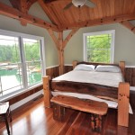 Timber frame baths and bedrooms in North and South Carolina, by Carolina Diversified Builders.
