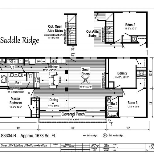 Saddle Ridge floor plan