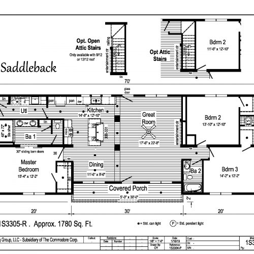 Saddleback floor plan