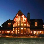 Carolina Diversified Builders offers homes made from full logs, as well as half log siding.