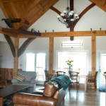 Timber frame great rooms in North and South Carolina, by Carolina Diversified Builders.
